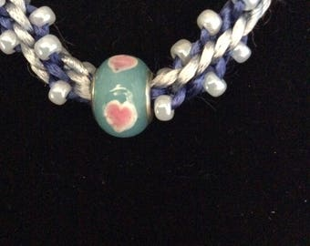 Beaded kumihimo necklace