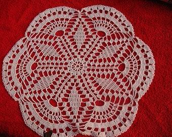 DOILY white cotton 31 cm in diameter