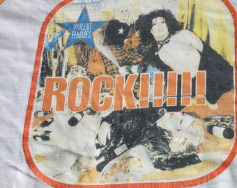 Vintage Rock Violent Femmes 3/4 Sleeves 100% Cotton
