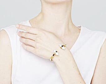 Marble Effect Cuff_Gold/Silver