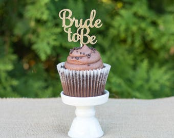 Bride To Be Cupcake Toppers | Bridal Shower Cupcake Toppers | Engagement Cupcake Toppers | Glittery Bride To Be Toppers l Wedding Party