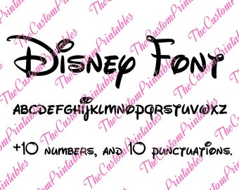 Disney, Mickey, Mouse, Font, Collection, Alphabet, SVG, Cut File, Vector, Cricut Files, Silhouette Files, Cameo