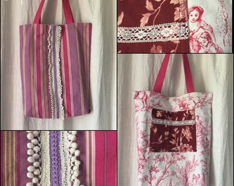Reversible tote bag - the Accommodant - - Upcycling