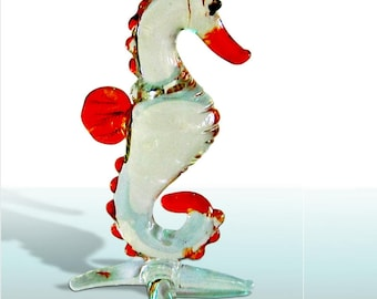Fabulous glass figurine - seahorses