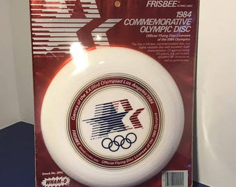 1984 WHAM-O VINTAGE FRISBEE sealed new old stock world class flying disc ifa toy wham o model commemorative olympics red white blue usa