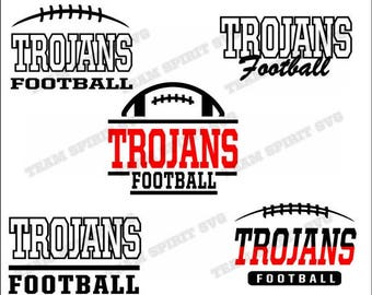 Trojans Football Bundle Download Files - SVG, DXF, EPS, Silhouette Studio, Vinyl Files, Digital Cut Files - Use with Cricut and Silhouette