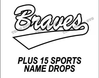 Braves Swoosh Download Files - SVG, DXF, EPS, Silhouette Studio, Vinyl Cutting Files, Digital Cut Files - Use with Cricut and Silhouette