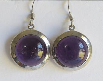 Sterling Silver Amethyst Earrings , Amethyst Earrings , Gift For her, Silver Amethyst Earrings