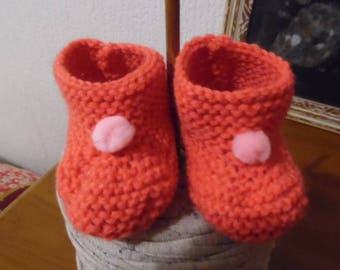 Booties with pom poms!