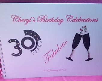 Birthday guest book 18th/21st/30th/40th/50th/60th/70th/80th