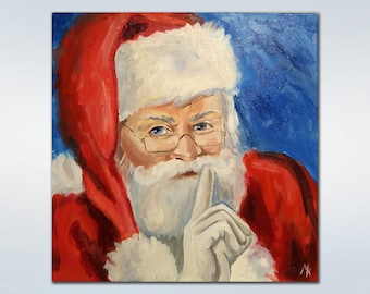 Santa Claus Christmas ornaments Christmas decoration Christmas Oil Painting Christmas wall decor