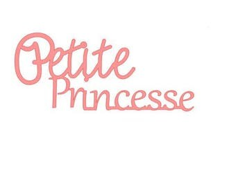 """Little Princess"" cutout for scrapbooking card making..."