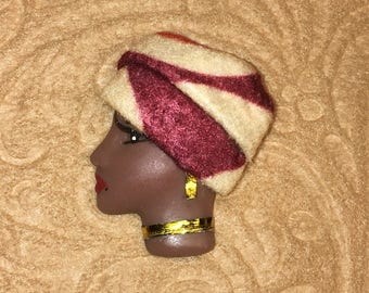 Marisol,African American LADY FACE PIN