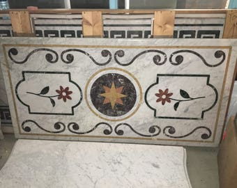 Italian Pietra Dura Marble Dining Table Top