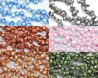 Freshwater pearls 7mm keishi / keshi , pearls beads in various colours