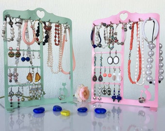 Jewelry Holder Stand, Earring and rings Organizer, Necklace Holder, Jewelry Display, Earring Holder
