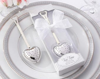 Heart Tea Time Tea Infuser with personalized tag