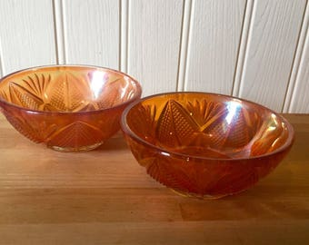 Two beautiful glass vintage bowls