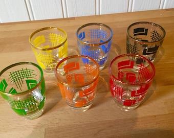 Kitsch shot glasses ..set of 6
