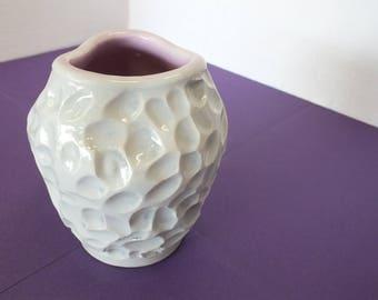 Hand-Carved Ceramic Vase