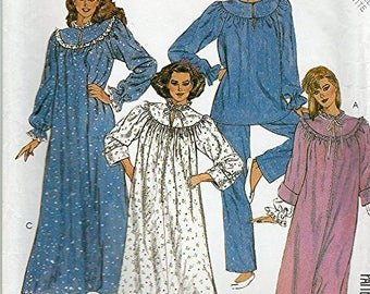 McCall's Misses Robe Nightgown and Pajamas