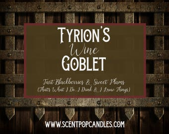 Tyrion's Wine, Game of Thrones Inspired Soy Candle