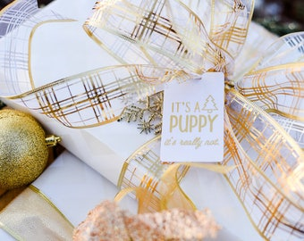 It's a Puppy (It's Really Not) Gift Tag (5 Tags)