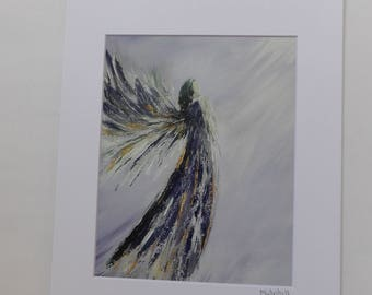 Purple Angel Print, Angel Wings, Guardian Angel, Angel Art Print, Angel Wings, Spiritual Art, Religious Gift, Easter Gift, Mother's Day Gift