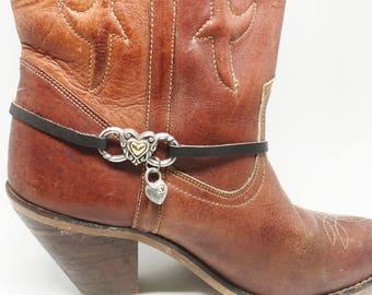 Boot Jewelry, Boot Bracelet, Vintage Brighton Belt Re-Purposed