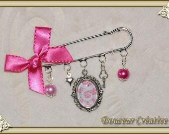 Pink Pearl brooch cabochon 109004