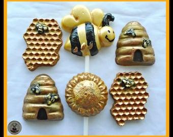 Chocolate Bee Gift/Insect Chocolate/Bee Lover/Bee Keeper/Bee Hive/Honey Bee/Kids Chocolate/Girls Birthday/Girls Gift/Female Gift/Edible Gift