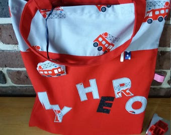 Tote bag a firefighter boy