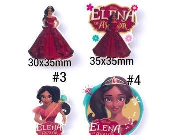 MIX, 5, 10 PCS princess elena inspired planar resin. elena embellishment