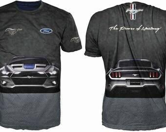 "Fantastic men's black 3d t-shirt ""Ford-Mustang"""
