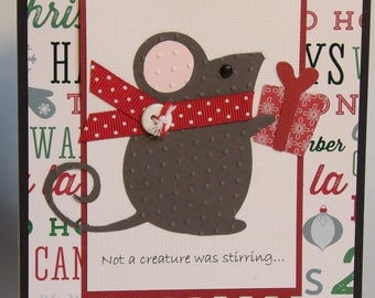 Christmas Card - Mouse - Not a creature was stirring