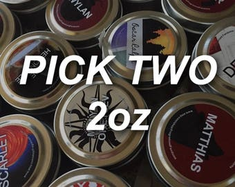 2oz soy candle set of two