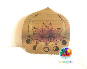 Ready to ship Lotus moon art