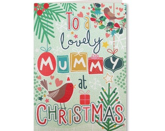 50% OFF - Merry Christmas - Happy Christmas - Seasons Greetings - Lovely Mummy - LG19 - Lets Go Collection