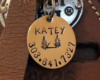 Alpine Saddle Tag - Pet ID Tag/ Bridle Tag/ Saddle Tag/ Halter Tag