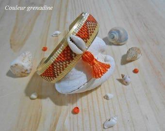 Cuff Bracelet geometric woven bracelet in miyuki beads