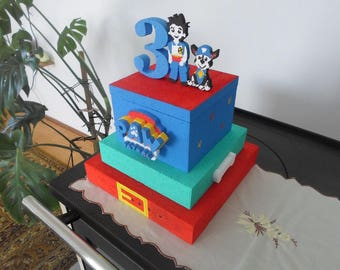 Paw patrol styrofoam cake