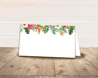 Printable Tropical Bridal Shower Food Tent Cards - Food Labels - Bridal Shower Place Cards - Tent Cards - Wedding Place Cards 038