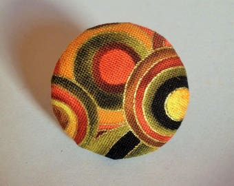 fabric and metal ring