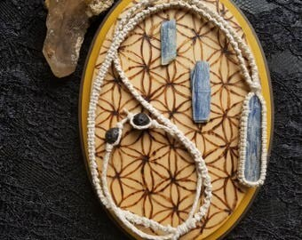 Blue Kyanite Hemp Necklace