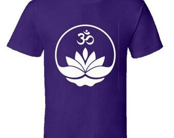Lotus Flower Om Symbol yoga tshirt,yoga clothing,mindfulness,meditation,om,chakras,asanas,yoga gear,yoga apparel,keep calm tshirts,mantras