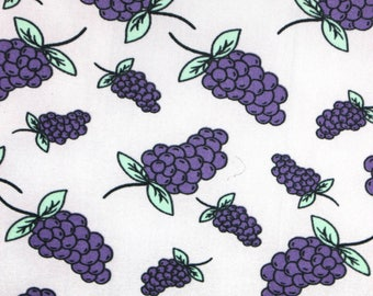 SALE!! Scratch n sniff Grapes lycra spandex .White lycra spandex, purple grapes, green leaves.,Smells like grapes! 58 inches wide BTY 1 yard