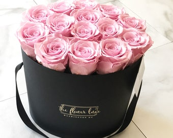 Roses in a box- Last ONE YEAR