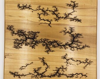 Lichtenberg Figure Art Print - Wood Burning - Poplar