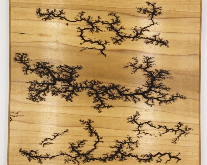 Lichtenberg Figure Art Print - Wood Burning - Poplar