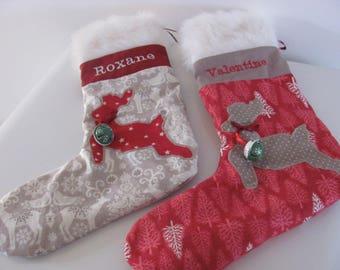 """Sock / boot Christmas """"Merry Christmas"""""""